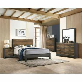 ACME Sheldon Queen Bed - 26200Q - Oak & Gray
