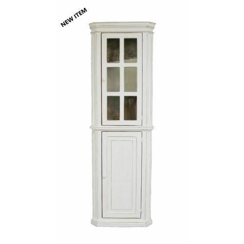 Million Dollar Rustic - Ww Glass Corner Cabinet