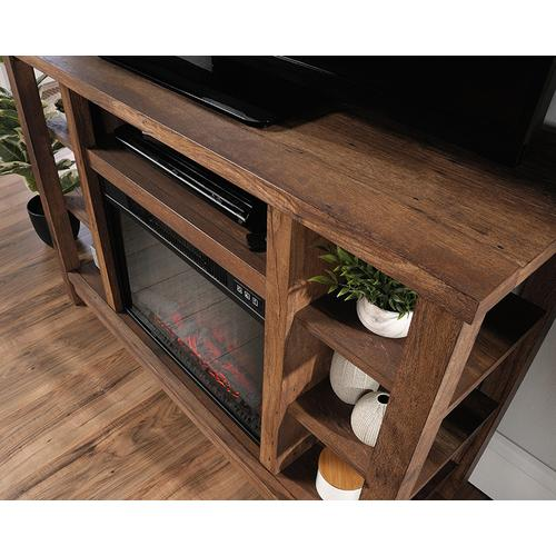 Fireplace Credenza TV Stand with Storage