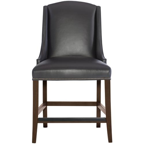 Gallery - Slope Leather Counter Stool in Cocoa Finishes Available Cocoa (CN1) Portobello (PN1) Smoke (SN1) Description Upholstered seat with welt Upholstered inback and outback Stretchers Metal cap on front stretcher Options Optional nailhead trim available. Available in other Bernhardt Interiors Dining Chair Leathers . To order in the available non-wire brushed finishes, specify the 3-digit finish number. Also available in wire brushed finishes - Glacier White, Midnight Black and Weathered Greige. See 301-85WL . Also available in fabric. Order as 319-585N . Specifications subject to change without notice. Due to differences in screen resolutions, the fabrics and finishes displayed may vary from the actual fabric and finish colors. ALL RELATED PRODUCTS