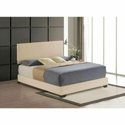 ACME Ireland III Eastern King Bed (Panel) - 24277EK - Beige PU