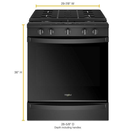 Whirlpool Canada - 5.8 cu. ft. Smart front control Gas Range with EZ-2-Lift™ Hinged Cast-Iron Grates