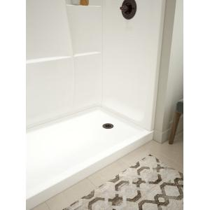 """Delta Faucet Company - High Gloss White 60"""" x 32"""" Shower Base - Right Drain"""
