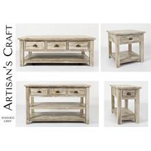 Artisan's Craft Chairside Table - Washed Grey