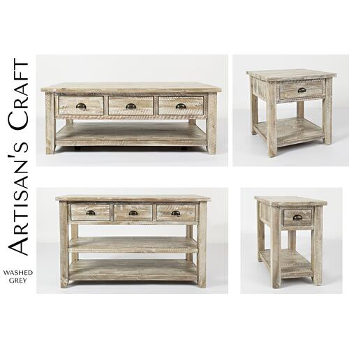 Artisan's Craft End Table - Washed Grey
