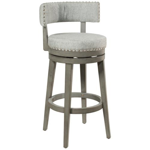Lawton Swivel Bar Height Stool, Antique Gray