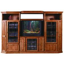 Forest Designs Traditional Oak Three Piece Wall & TV Stand & Adjustable Shelf - 43w