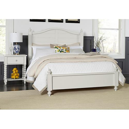 Vaughan-Bassett - Queen Post Arched Bed with Low Profile Footboard