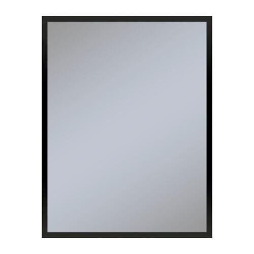 "Profiles 23-1/4"" X 30"" X 6"" Framed Cabinet In Matte Black and Non-electric With Reversible Hinge (non-handed)"