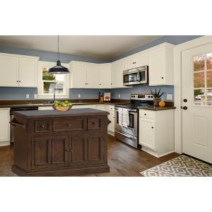 Gallery - Tuscan Retreat® 3 Drawer 4 Door Large Granite Top Kitchen Island - Rustic Mahogany