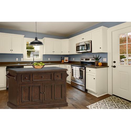 Product Image - Tuscan Retreat® 3 Drawer 4 Door Large Granite Top Kitchen Island - Rustic Mahogany