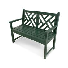 """Green Chippendale 48"""" Bench"""