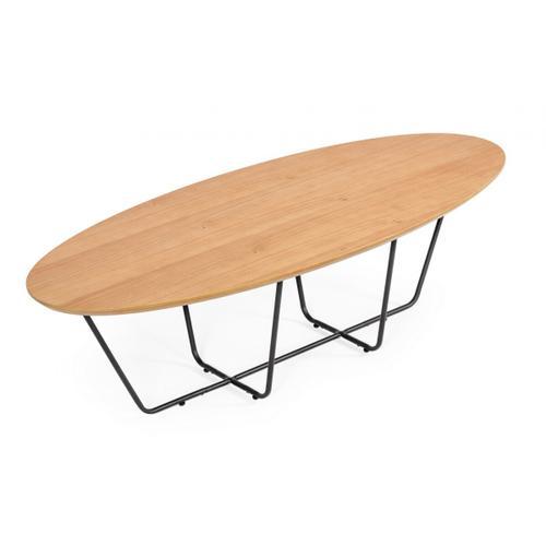VIG Furniture - Modrest Esther - Industrial Large Oak Coffee Table