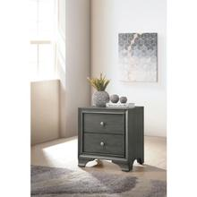 GRAY NIGHTSTAND W/TWO DRAWERS
