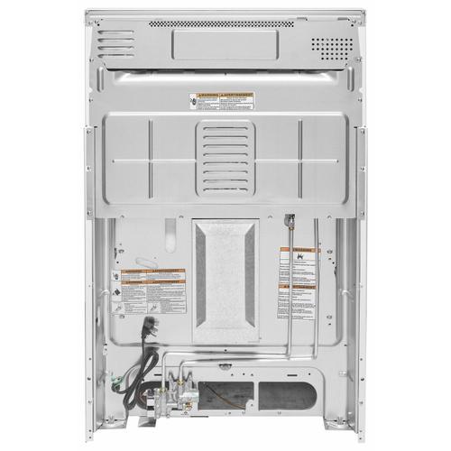 KitchenAid - 30-Inch 5-Burner Gas Convection Range - White
