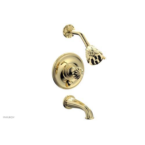 GEORGIAN & BARCELONA Pressure Balance Tub and Shower Set PB2361 - Polished Brass