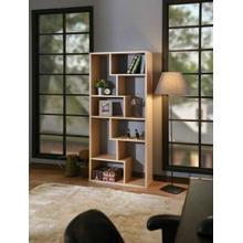 ACME Mileta II Bookshelf, Weathered Light Oak - 92402