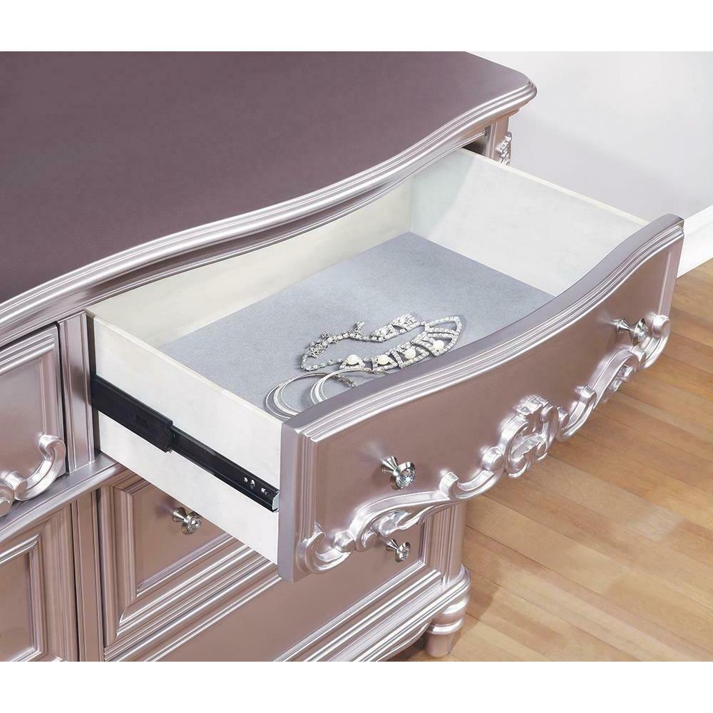 Caroline Metallic Lilac Dresser