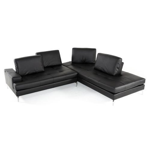 VIG Furniture - Estro Salotti Voyager - Modern Black Leather Right Facing Sectional Sofa