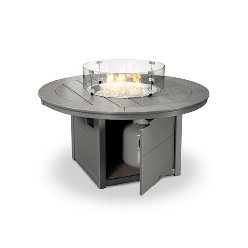 """Slate Grey Round 48"""" Fire Pit Table"""