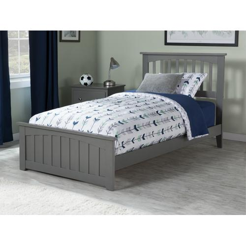 Mission Twin XL Bed with Matching Foot Board in Atlantic Grey