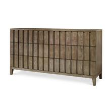 Casa Bella Louvered Dresser Timber Gray Finish