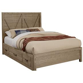 V Panel Bed with 2 side storage units
