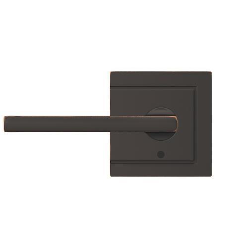 Custom Latitude Non-Turning Lever with Upland Trim - Aged Bronze
