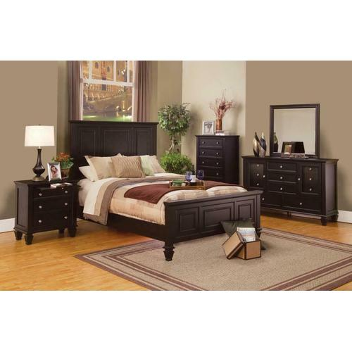 Sandy Beach Cappuccino Queen Five-piece Bedroom Set