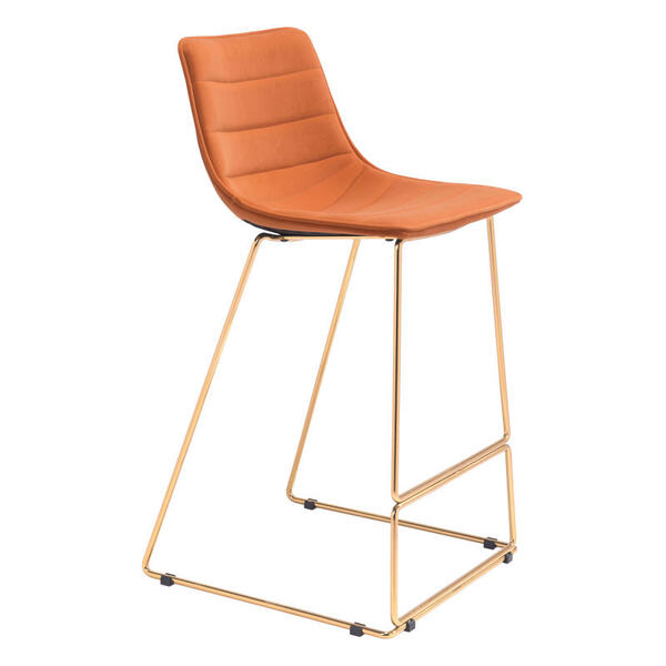Adele Bar Chair Orange & Gold
