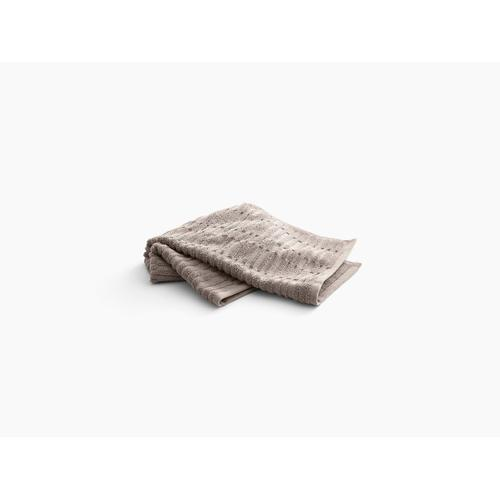 "Truffle Hand Towel With Tatami Weave, 18"" X 30"""