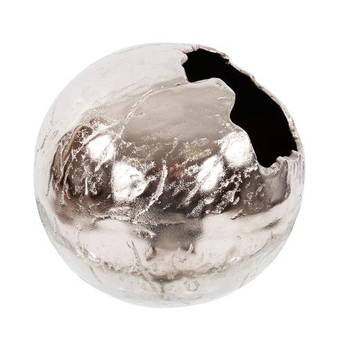 Howard Elliott - Nickel Aluminum Cracked Ball Vase