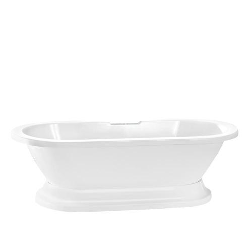 "Compton 70"" Acrylic Double Roll Top Tub on Base - 7"" Rim Holes"
