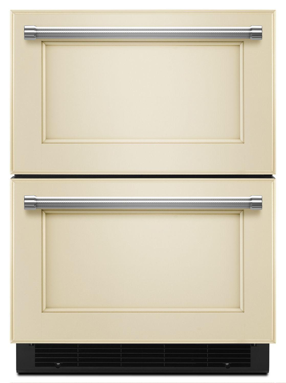 "Kitchenaid24"" Panel Ready Refrigerator/freezer Drawer Panel Ready"