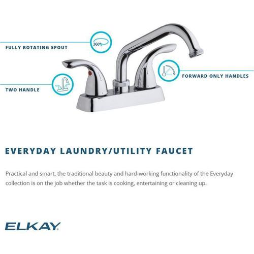 Elkay Everyday Laundry/Utility Deck Mount Faucet and Lever Handles Chrome