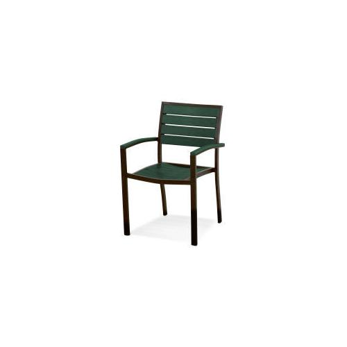 Polywood Furnishings - Eurou2122 Dining Arm Chair in Textured Bronze / Green