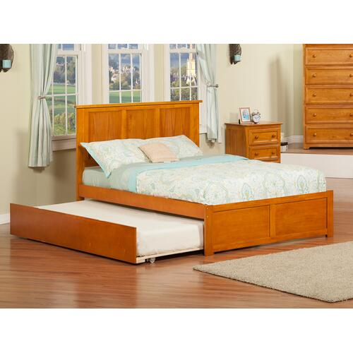 Madison Full Flat Panel Foot Board with Urban Trundle Caramel Latte