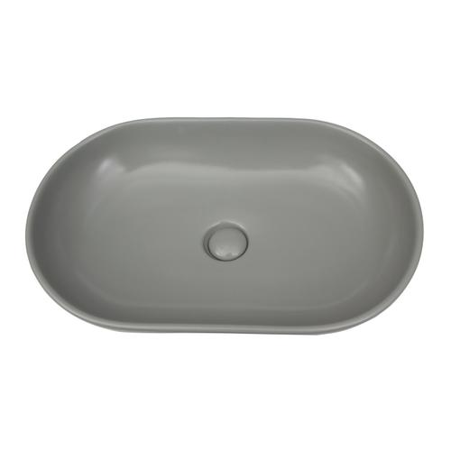 Harmony Oval Above Counter Basin - Matte Light Green