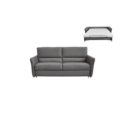 Gallery - Estro Salotti Smack Italian Modern Grey Leather Large Sofa Bed