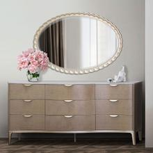 Oval Wall Mirror Chardonnay