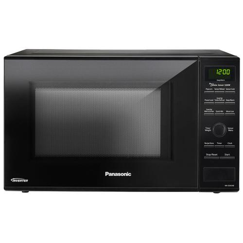 Panasonic - 1.2 Cu. Ft. Countertop Microwave Oven with Inverter Technology™ - Black - NN-SD654B