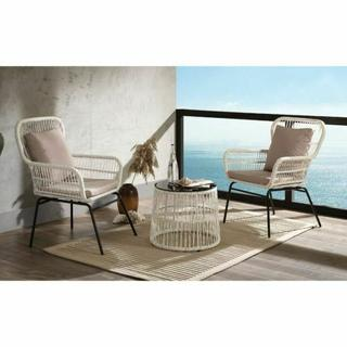 ACME Kamea 3Pc Patio Bistro Set - 45095 - Fabric & Wicker