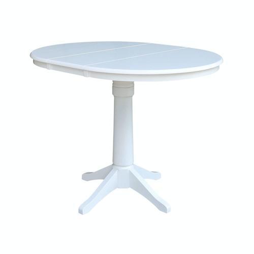 John Thomas Furniture - Round Extension Table in Pure White