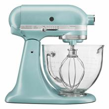 See Details - Artisan® Design Series 5 Quart Tilt-Head Stand Mixer with Glass Bowl - Azure Blue