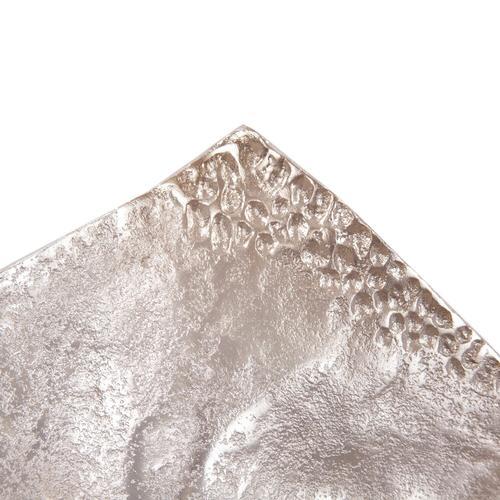 Howard Elliott - Aluminum Champagne Silver Hammered Large Bowl