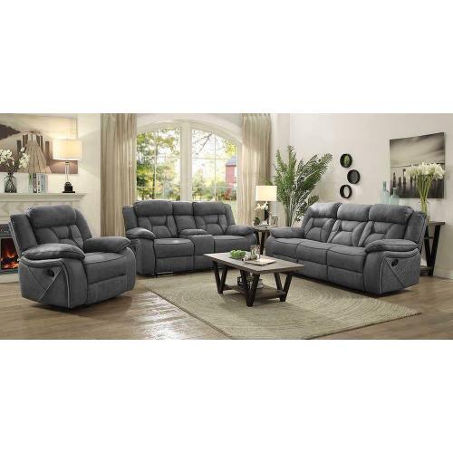 Coaster - Houston Casual Stone Reclining Three-piece Living Room Set