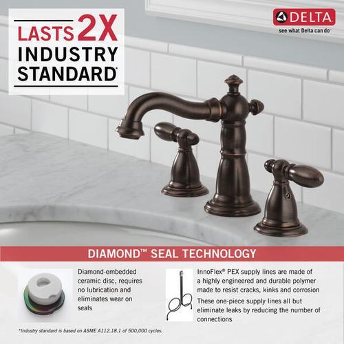 Venetian Bronze Two Handle Widespread Bathroom Faucet
