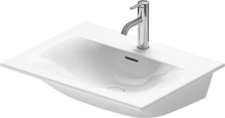 Viu Furniture Washbasin 2 Faucet Holes Pre-marked With Large Distance Between Faucets