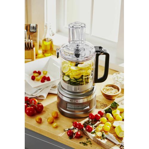 KitchenAid - 9 Cup Food Processor Plus - Contour Silver