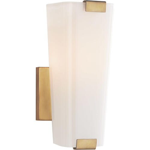 AERIN Alpine 1 Light 5 inch Hand-Rubbed Antique Brass Single Sconce Wall Light, Small